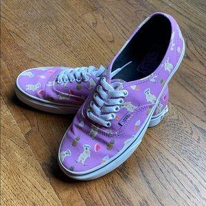 Ice cream pineapple  dog skateboard Vans 8.5